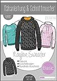 Papierschnittmuster Basic Raglan Sweater Damen Schnittmuster und...