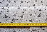 Sweatstoff French Terry, grau-meliert, Pusteblume,50 cm x 150 cm