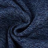 SCHÖNER LEBEN. Sweatstoff Stricksweat dunkelblau blau schwarz meliert...