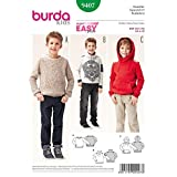 Burda 9407 Schnittmuster Sweater (kids, Gr. 104 - 140) Level 1 super...