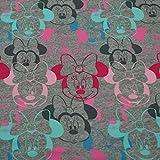 Sweatstoff Disney Minnie Maus, Öko-Tex Standard 100, grau (50cm x...
